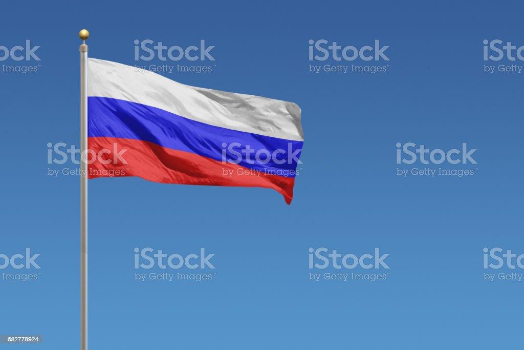 Bandeira da Rússia - foto de acervo