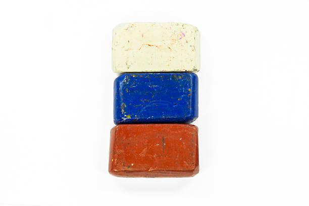 flag of russia with wax crayon - wachsmalblöcke stock-fotos und bilder