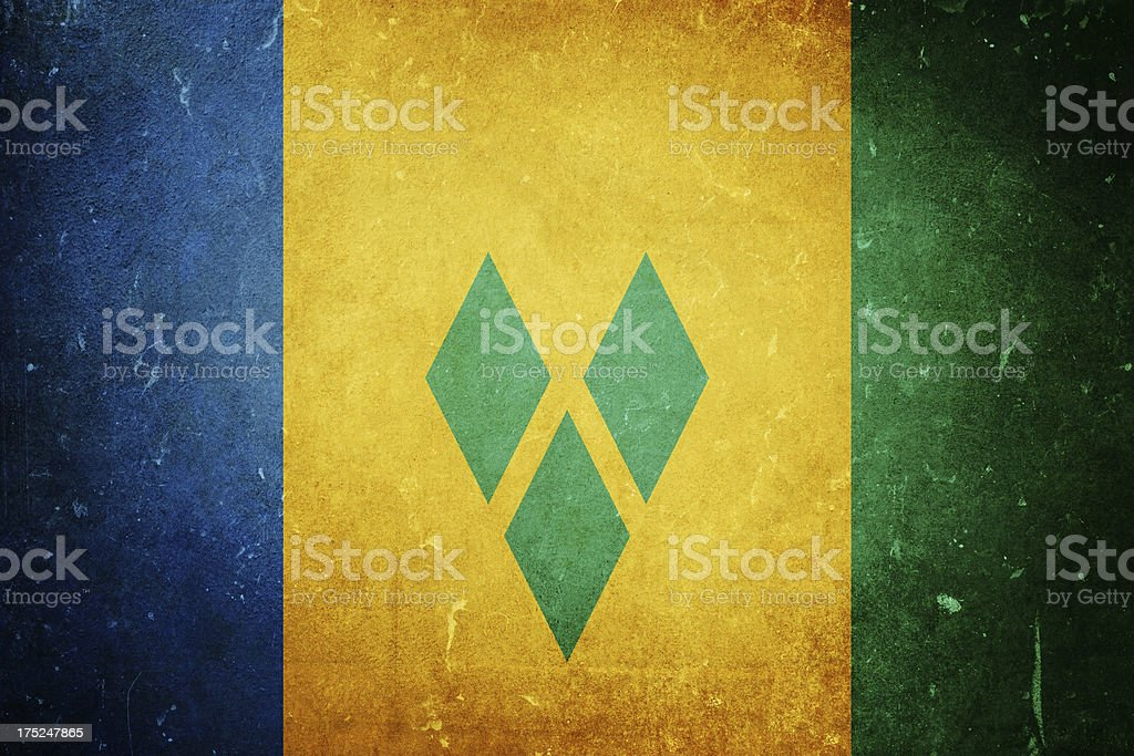 Flag of Saint Vincent and the Grenadines royalty-free stock photo