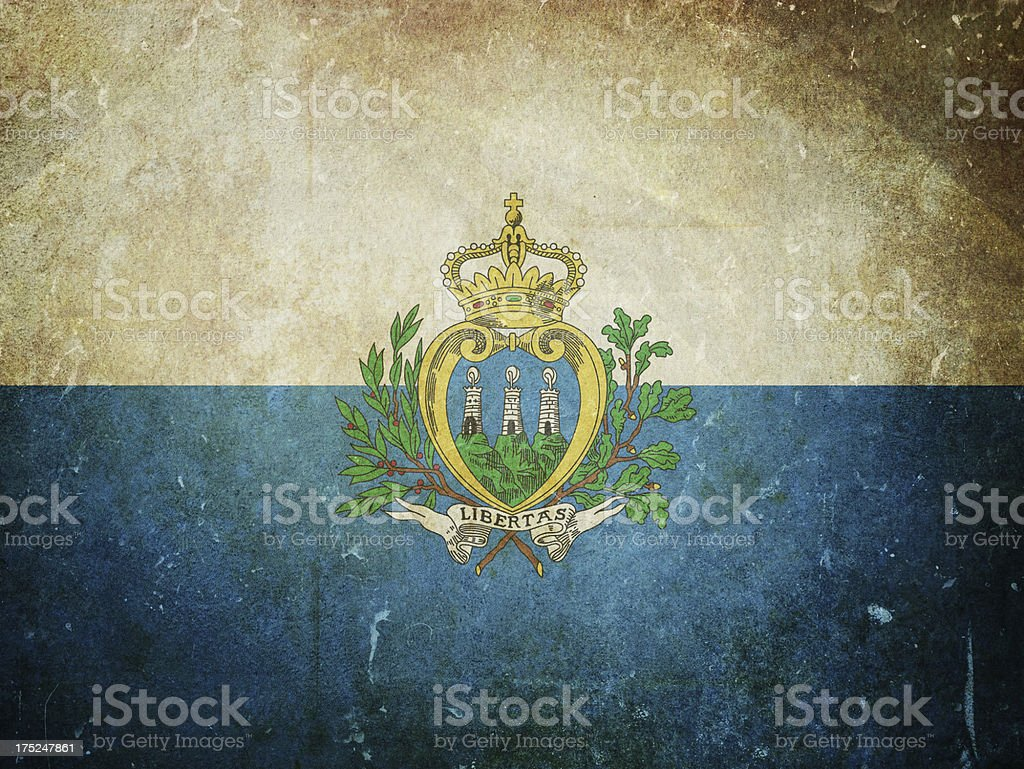 Flag of San Marino royalty-free stock photo