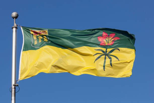 Flagge von Saskatchewan, Kanada – Foto