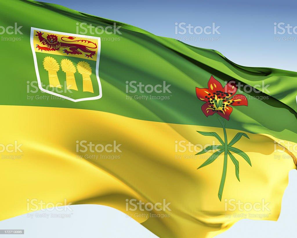 Flag of Saskatchewan royalty-free stock photo
