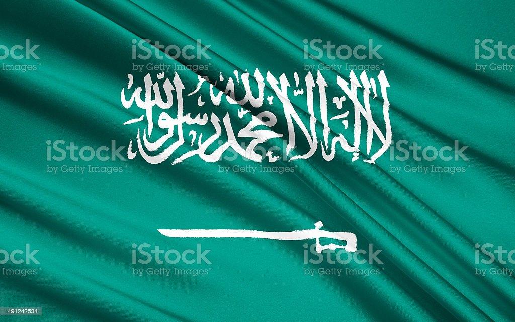 Flag of Saudi Arabia stock photo