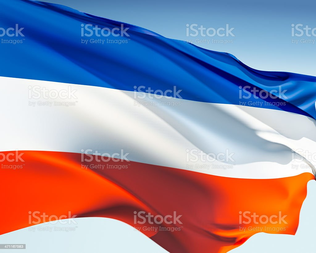 Flag of Schleswig-Holstein stock photo