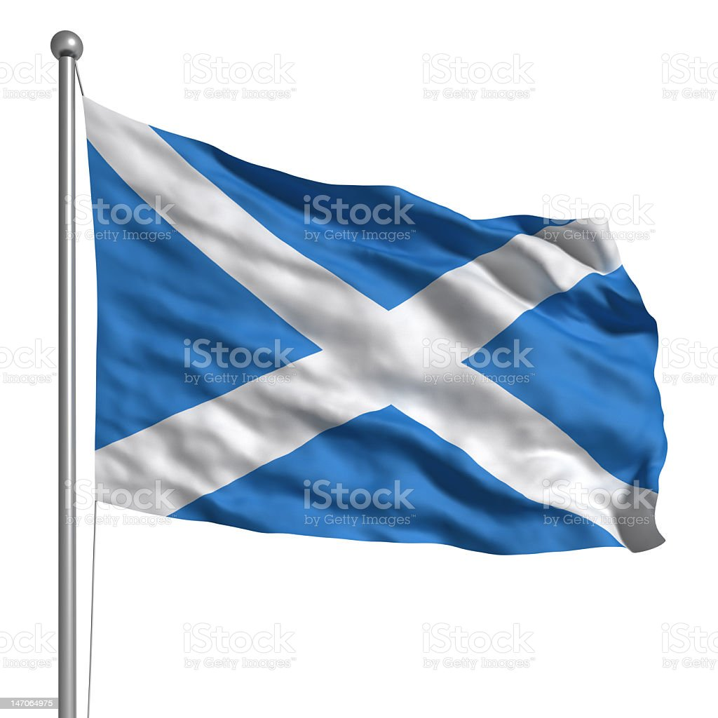 Flag of Scotland (Isolated) royalty-free stock photo