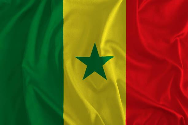 Bandeira do Senegal fundo - foto de acervo