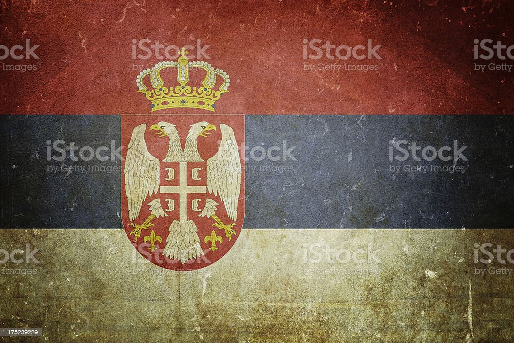 Flag of Serbia royalty-free stock photo