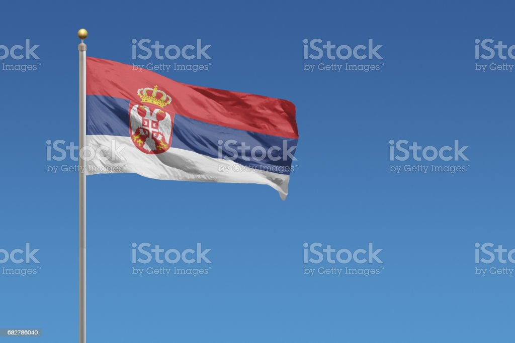 Flag of Serbia - fotografia de stock