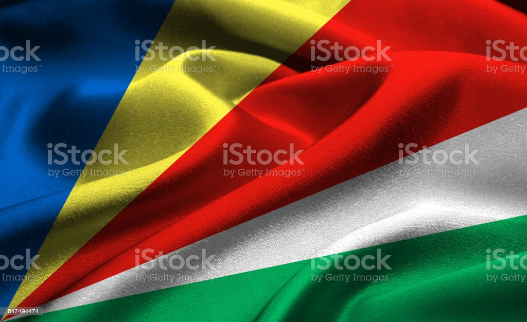 Flag of Seychelles stock photo