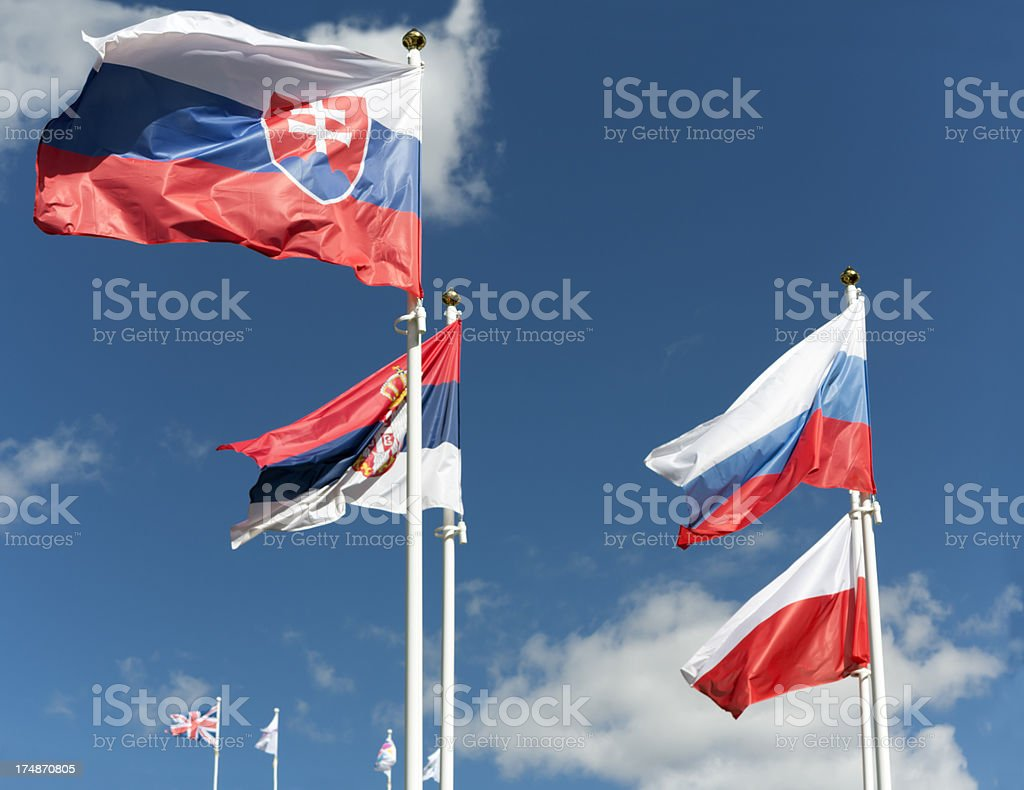 Flag of Slovakia royalty-free stock photo