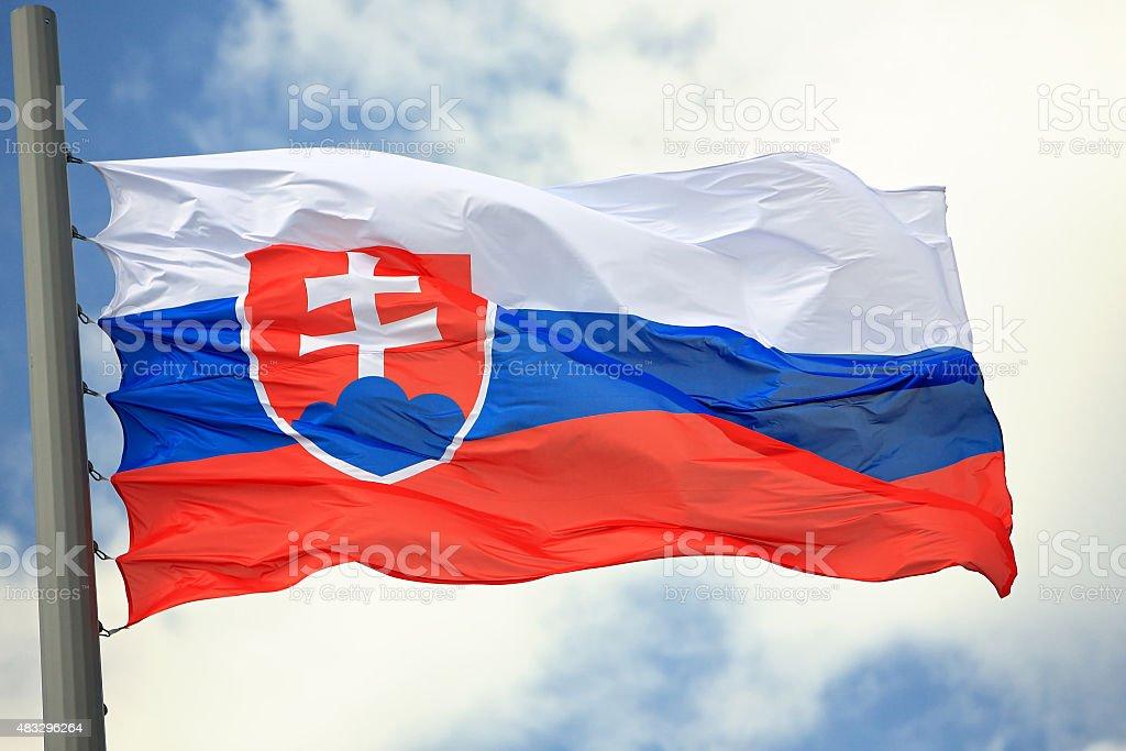 Flag of Slovakia stock photo