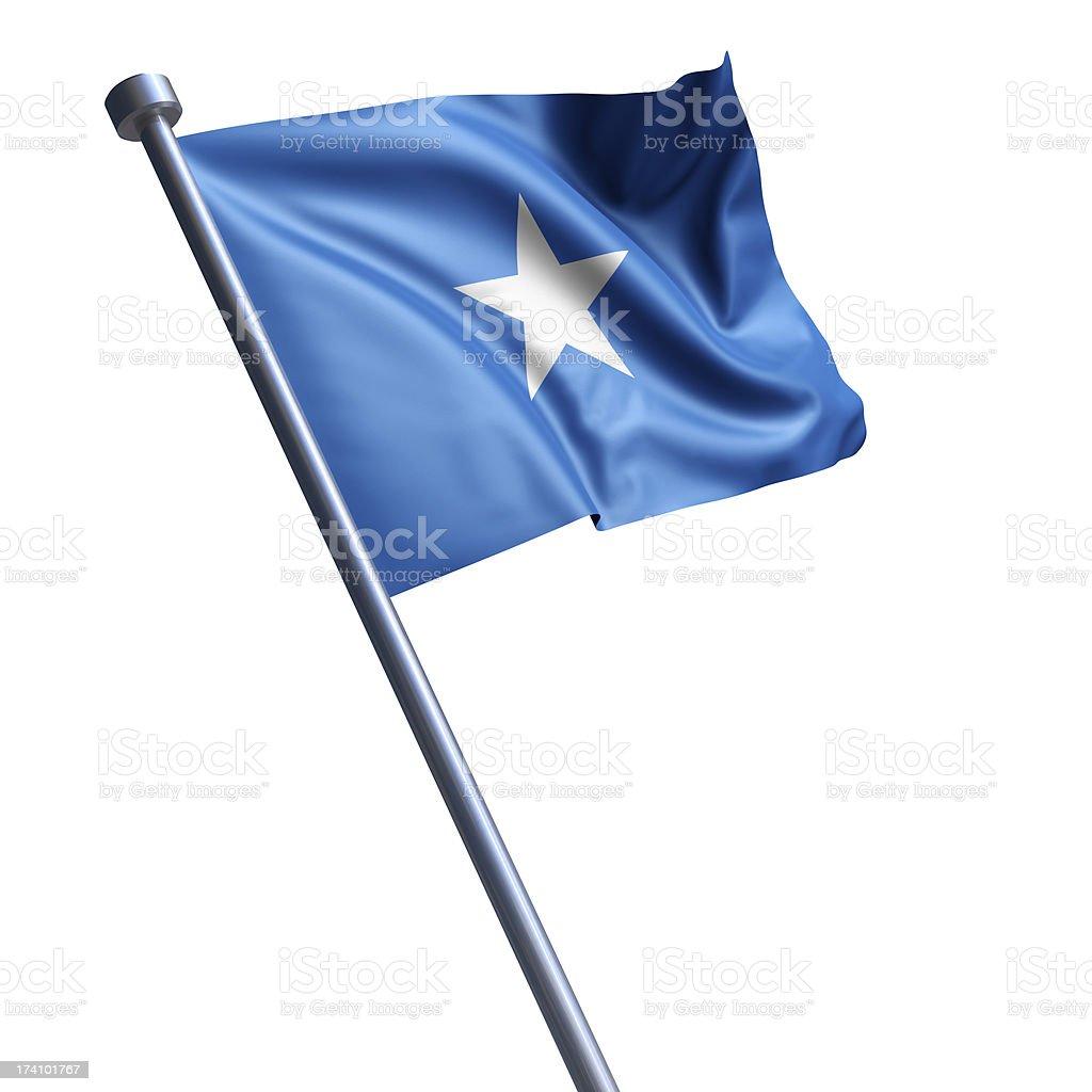 Flag of Somalia isolated on white stock photo