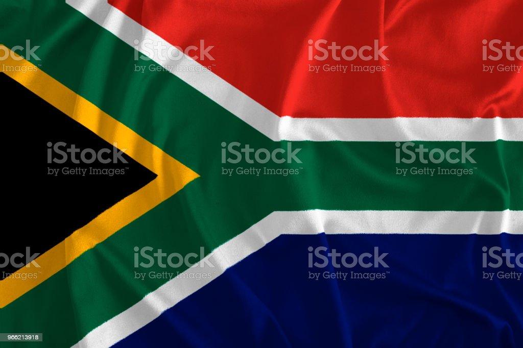 Bandeira da África do Sul fundo - foto de acervo