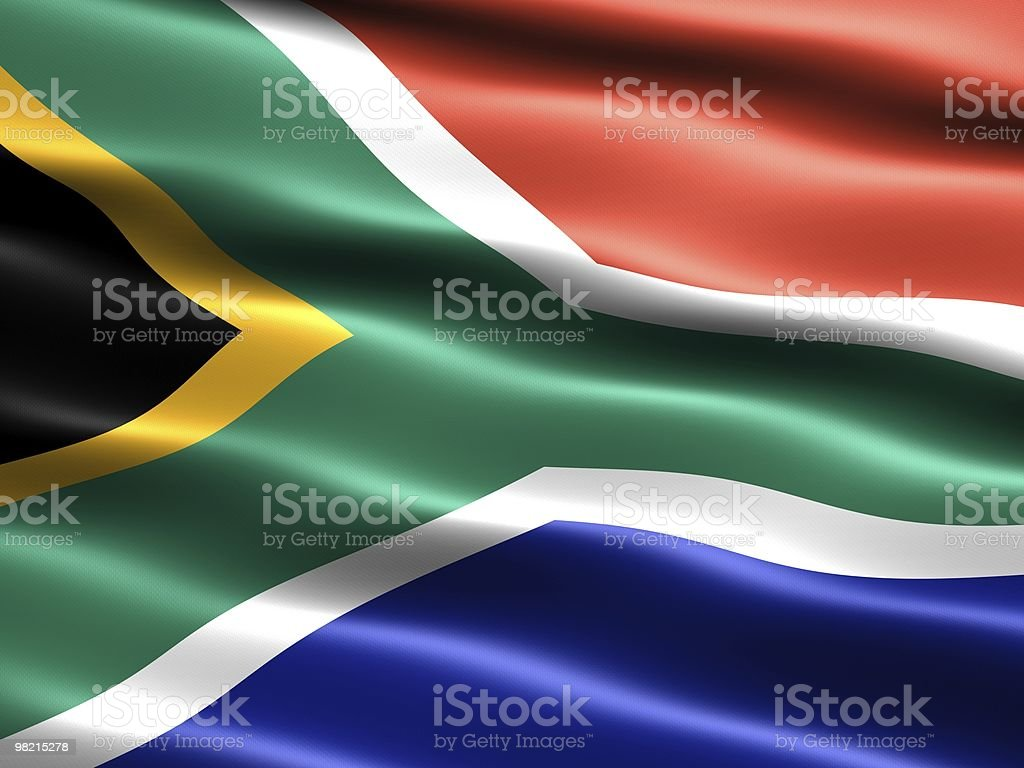 플랙 of South Africa royalty-free 스톡 사진