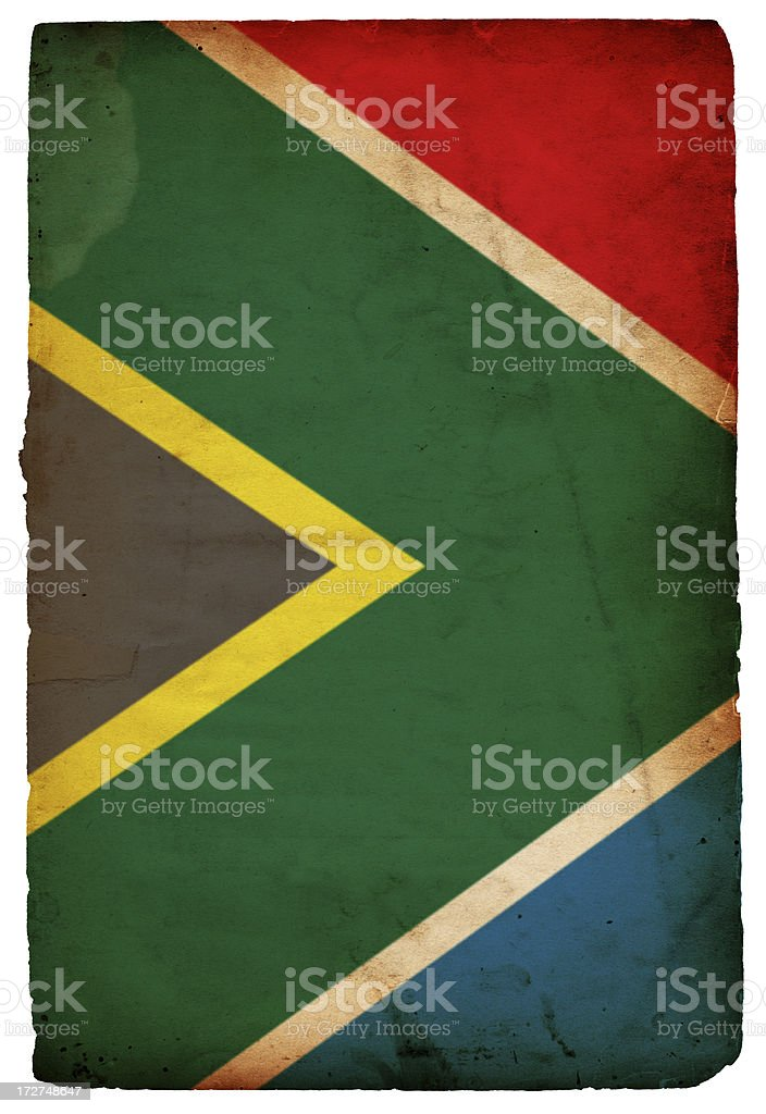 Flag of South Africa XXXL royalty-free stock photo