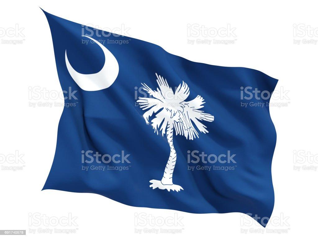 Flag of south carolina, US state fluttering flag stock photo