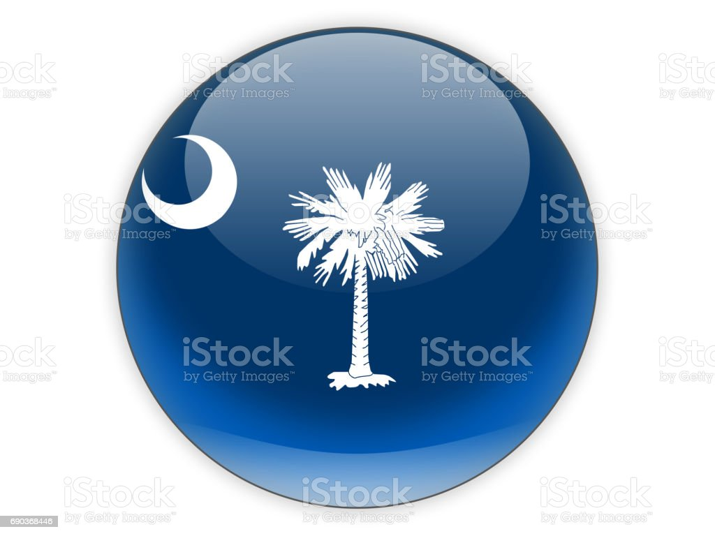 Flag of south carolina, US state icon stock photo