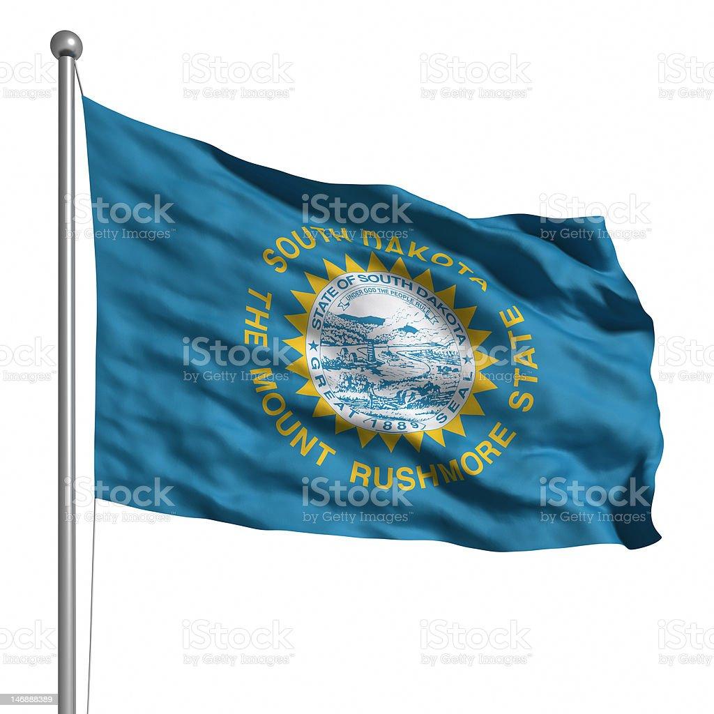 Flag of South Dakota (isolated) stock photo