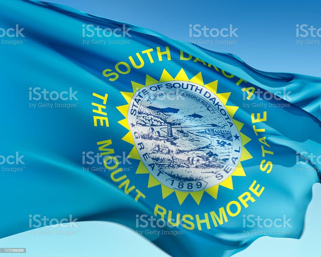 Flag of South Dakota stock photo