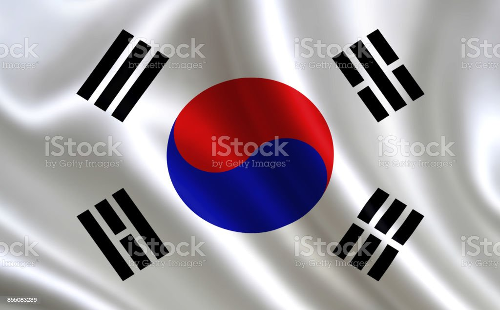 Flag of  South Korea.Part of the series.
