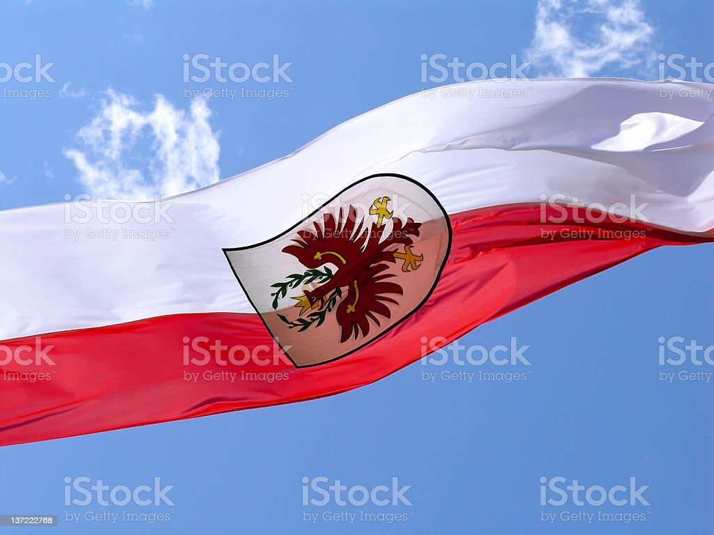 Flag of South Tyrol royalty-free stock photo