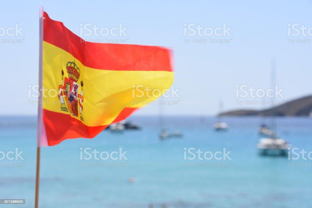 Pavilhão de Espanha na praia de Ibiza - foto de acervo