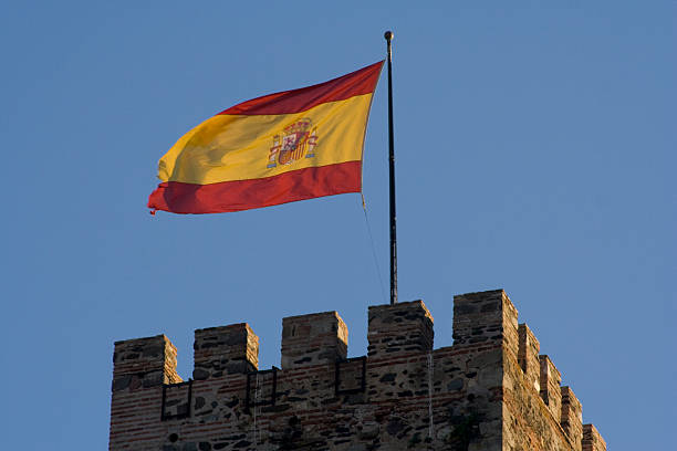 Bandera de España Horizontal stock photo