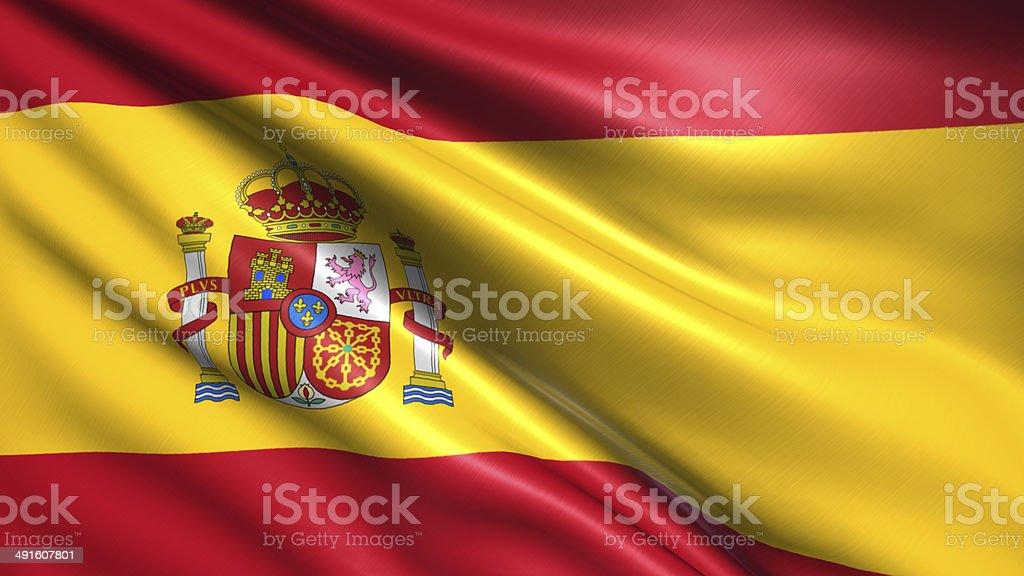 Flaga Hiszpanii – zdjęcie