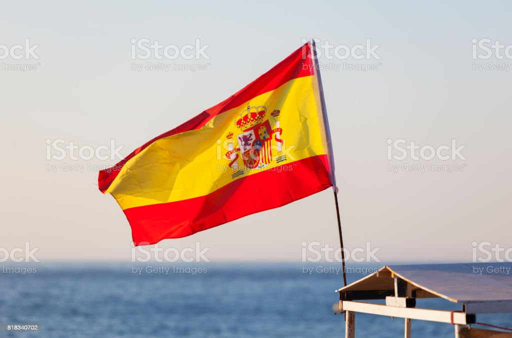 Flag of Spain. Spanish flag. - foto stock