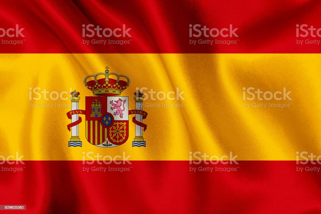 Flag of Spain waving background - foto stock