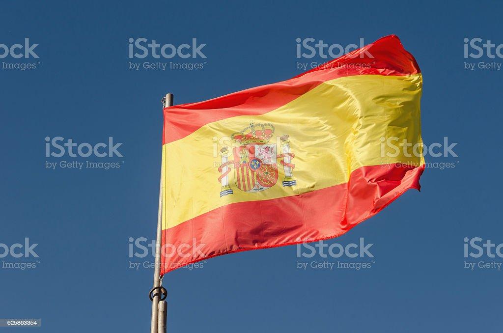 Flag of Spain waving - foto de acervo