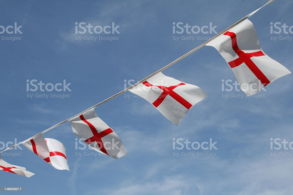 Flag of St George - England Euro 2012 English Pride royalty-free stock photo