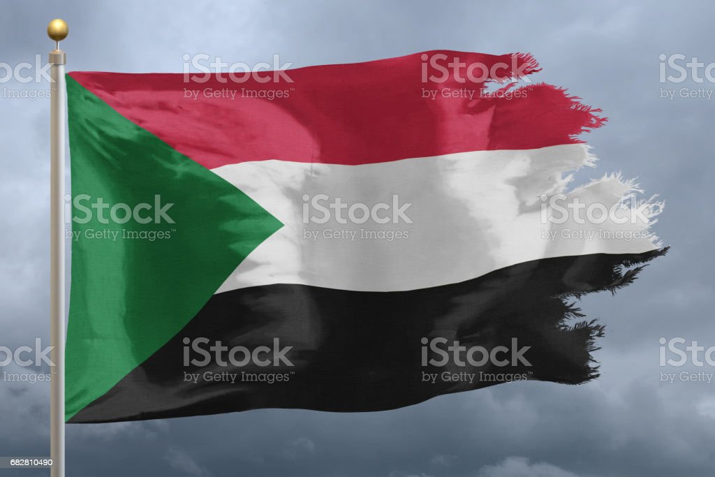 Flag of Sudan Lizenzfreies stock-foto