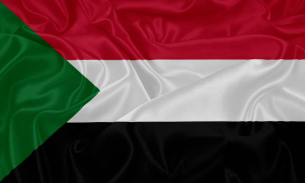 flag of sudan - sudan stock photos and pictures