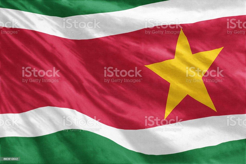 Flag of Suriname Lizenzfreies stock-foto