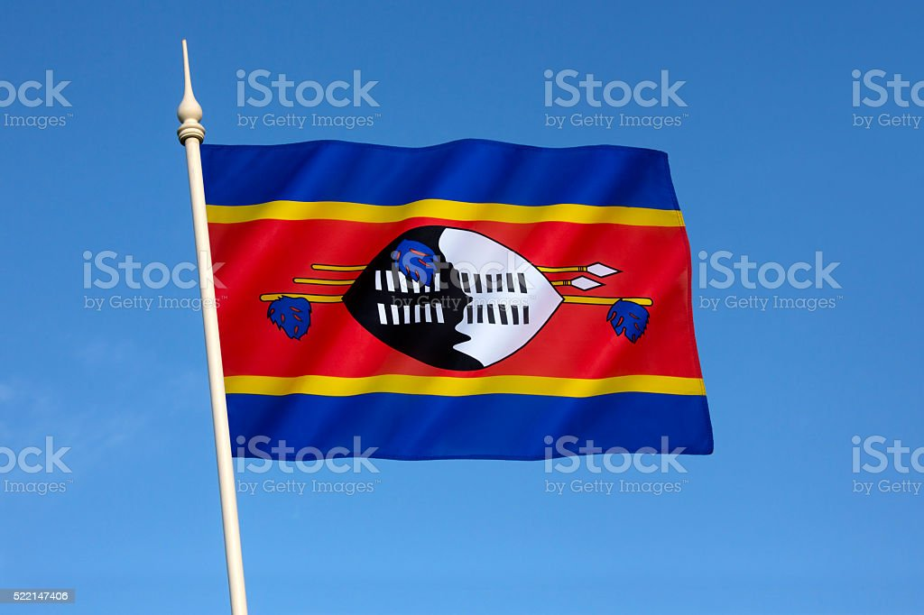 Flag of Swaziland stock photo