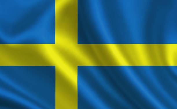 Bandeira da Suécia. Parte da série. - foto de acervo