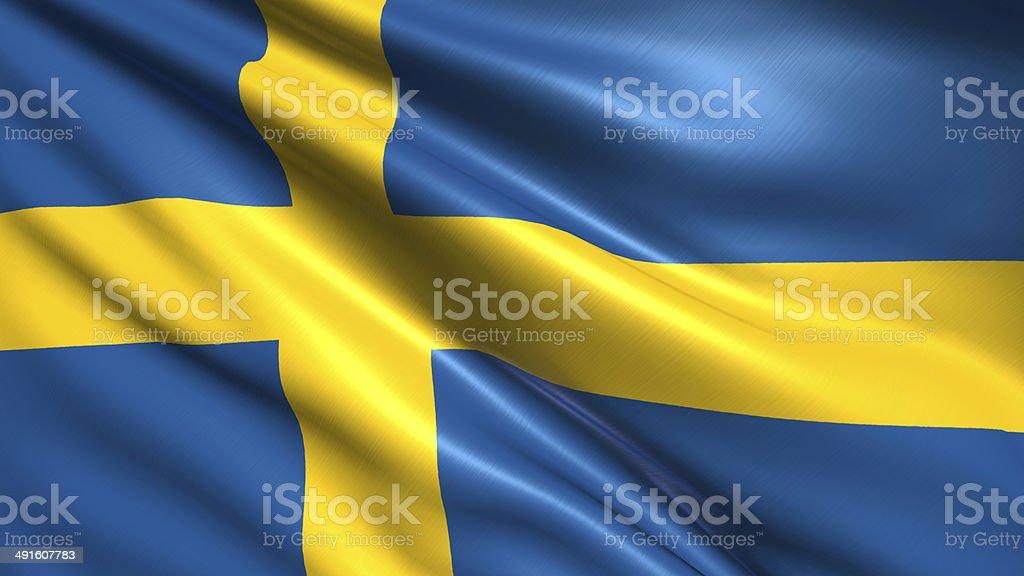 Flaga Szwecji zbiór zdjęć royalty-free