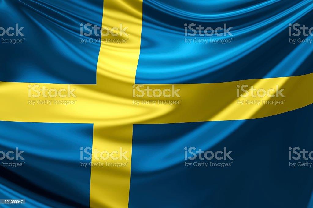 Flag of Sweden. stock photo