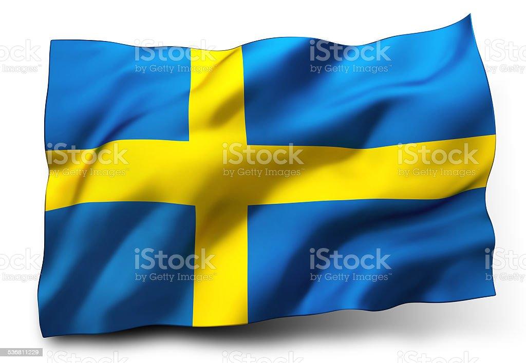 Flag of Sweden stock photo