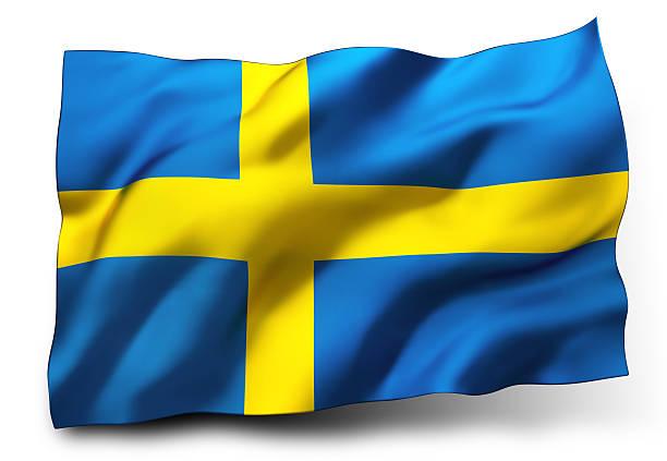 Bandeira da Suécia - foto de acervo