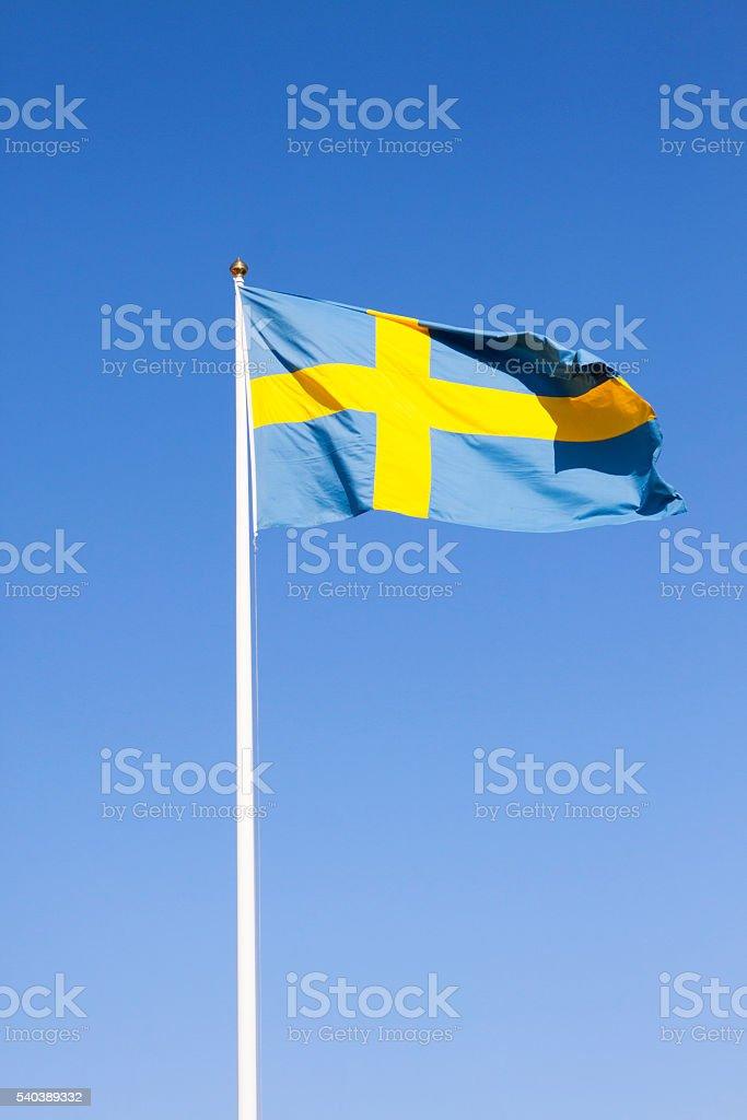 Flagge von Schweden Lizenzfreies stock-foto
