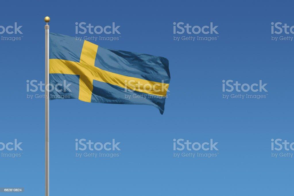 Flag of Sweden Lizenzfreies stock-foto