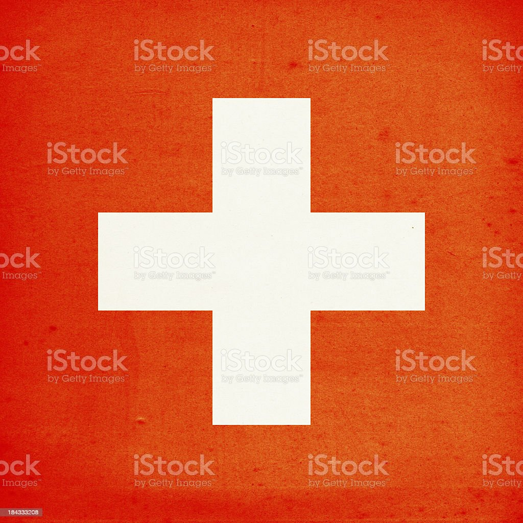 Flag of Switzerland Close-Up (High Resolution Image) royalty-free stock photo