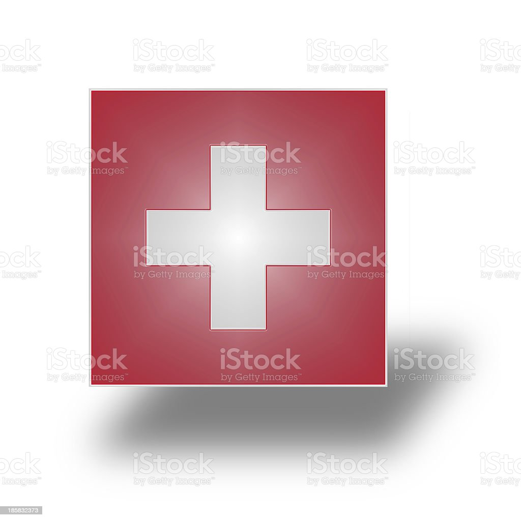 Flag of Switzerland (stylized I). stock photo
