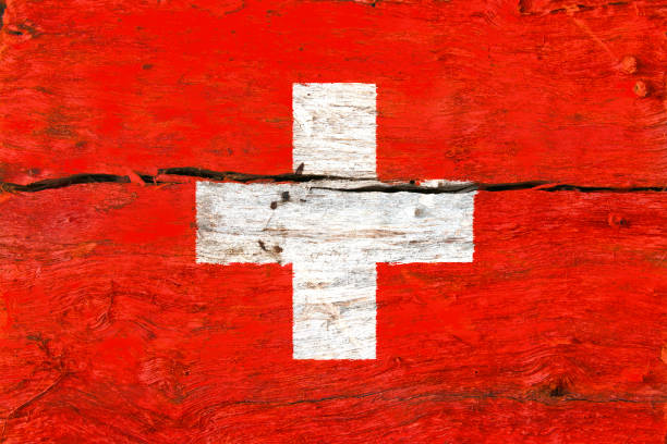 flag of Switzerland stock photo