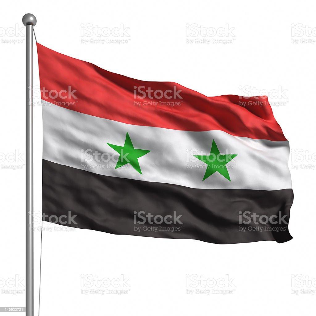 Bandera de siria (aislado - foto de stock