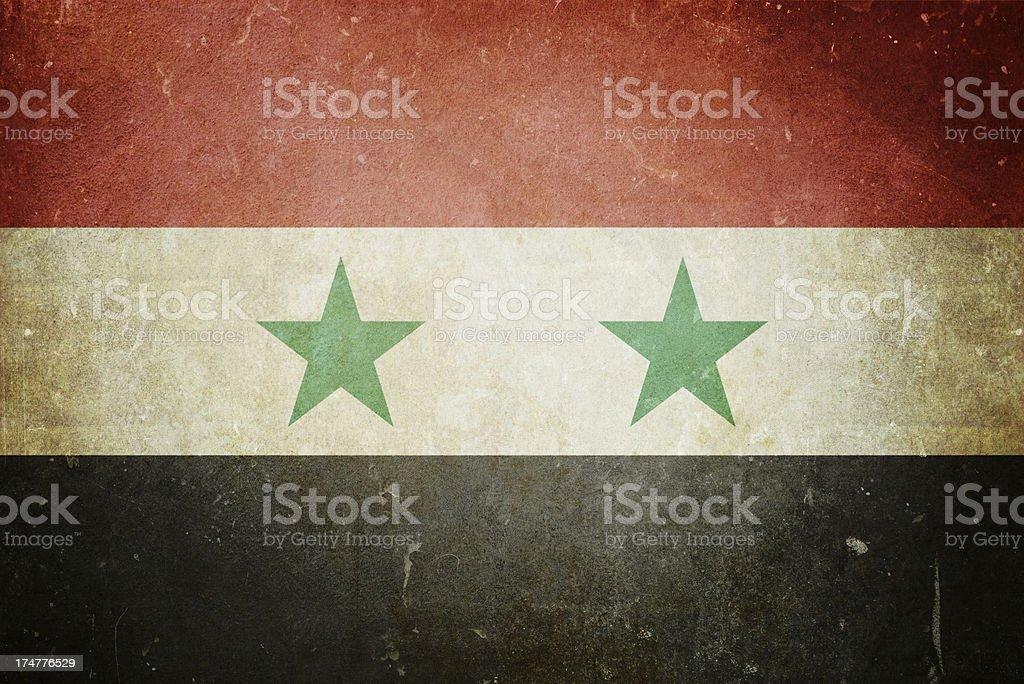 Flag of Syria royalty-free stock photo