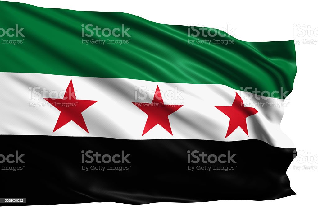 flag of Syria - Syrian National Coalition - foto de stock