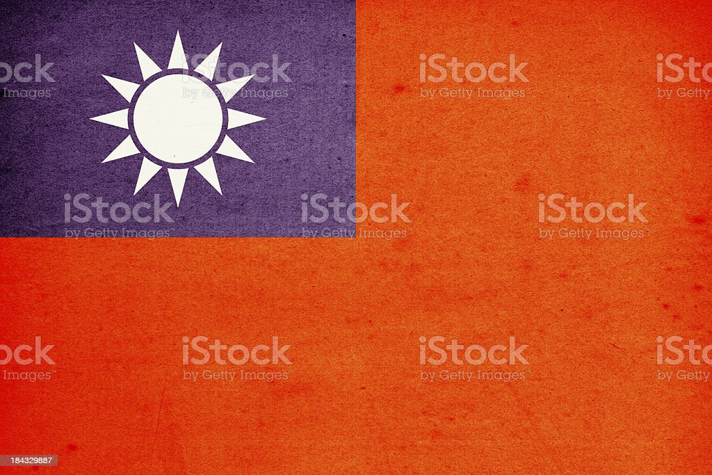 Flag of Taiwan Close-Up (High Resolution Image) royalty-free stock photo